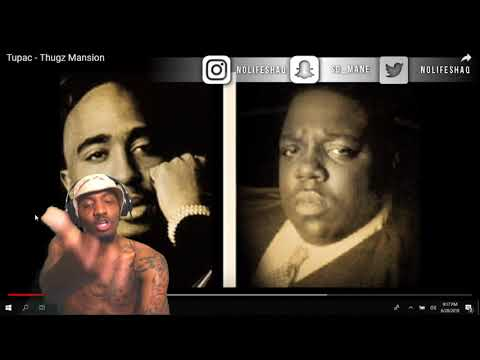 Its like he could see the future!!! Tupac  Thugz Mansion  NoLifeShaq REACTION