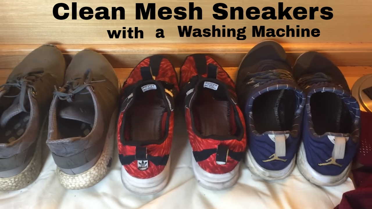 56748e0d95d3e How to Clean Mesh Sneakers in the Washing Machine - YouTube