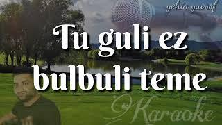 Tu guli Ez bulbuli Teme #kürtçe #Karaoke توكولي ازى بلبلة تما _ كاريوكي