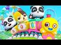 Roda Kereta Kecil Berputar-putar Melewati Taman Hiburan | Lagu Anak-anak | BabyBus Bahasa Indonesia