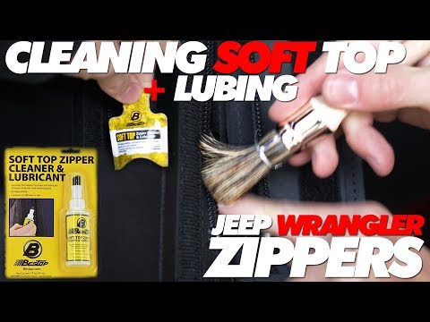 Jeep Soft Top Zipper Cleaning and Lubricating