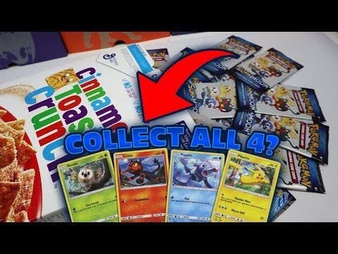 EXCLUSIVE FOIL POKEMON CARDS in my CEREAL BOX!? 2 HOLOS 1 PACK!?