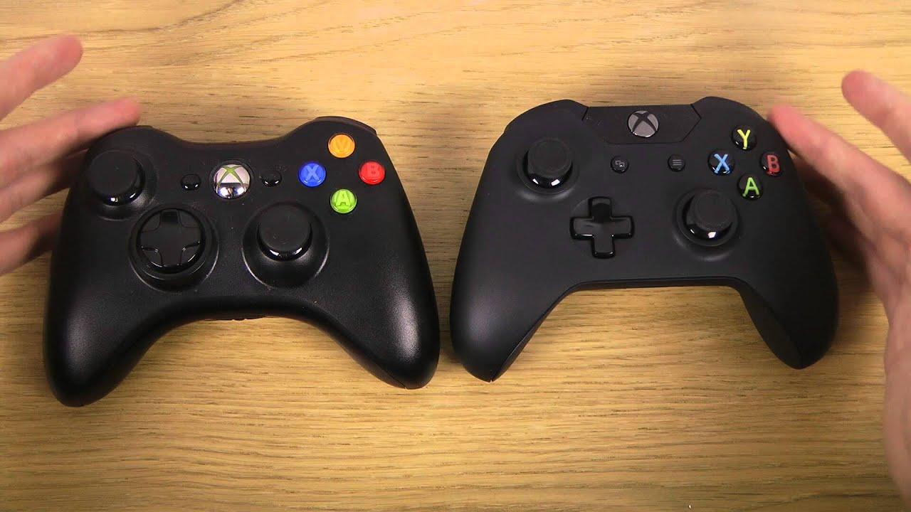 Xbox 360 Controller vs. Xbox One Controller - Comparison ... Xbox One Vs Xbox 360 Controller