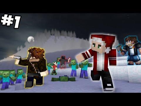 ЗОМБИ АПОКАЛИПСИС ЗИМОЙ   НОВОГОДНИЕ ПРИКЛЮЧЕНИЯ 1 Minecraft