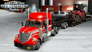 Nocny transport ciągnika - American Truck Simulator | (#55)