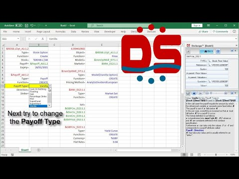 How to use Deriscope to price a Stock Option