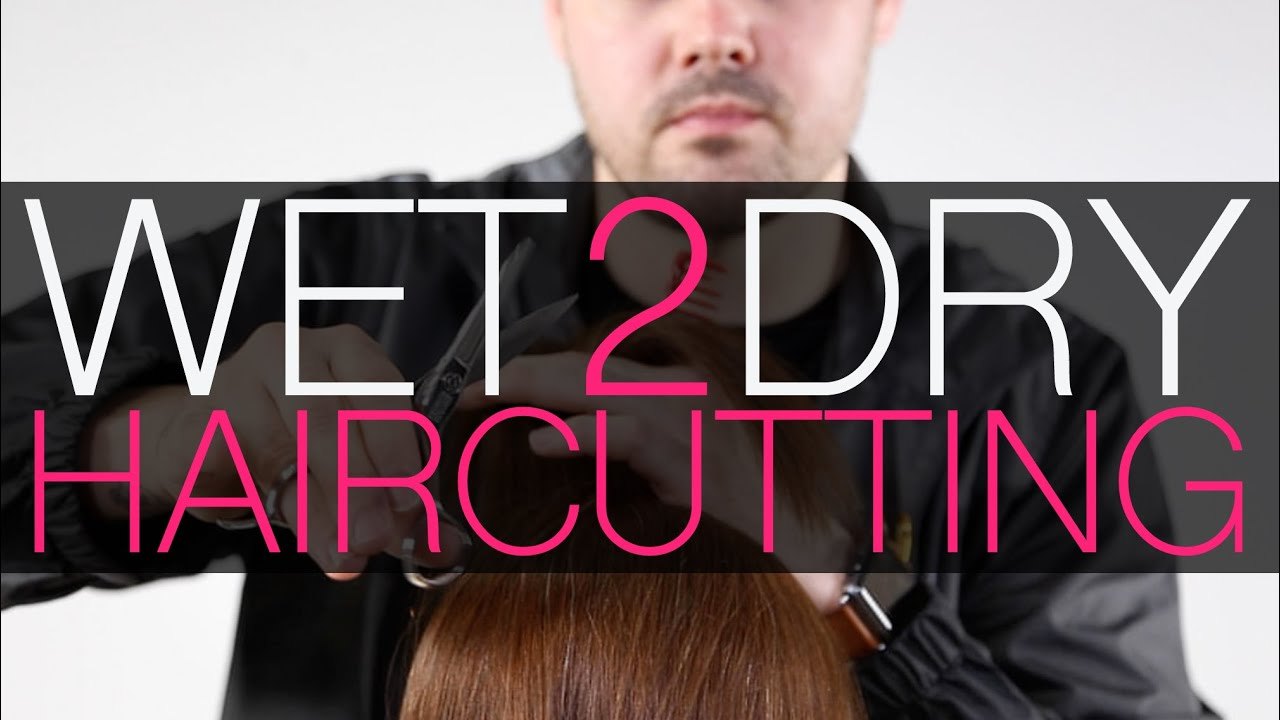 WET 2 DRY HAIRCUTTING - One Length Haircut + Flat Wrap Blow Dry Technique -  MATT BECK VLOG 20