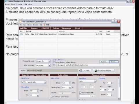 programa para converter videos para o formato amv