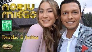 Deividas & Justina - Noriu Miego (Official Lyric Video). Lietuviškos Dainos Su Žodžiais