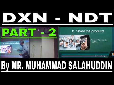 PART 2 - DXN NEW DISTRIBUTOR TRAINING (HINDI/URDU) By MR MUH