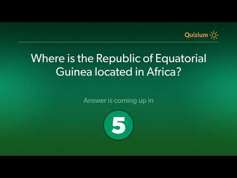 Where is the Republic of Equatorial Guinea located in Africa?   Equatorial Guinea Quiz