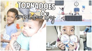 Tornado Sirens Going Off &amp Competition Day!  Daily Vlog