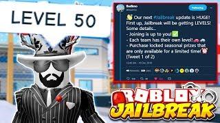 Roblox Jailbreak LEVELING SYSTEM WINTER UPDATE! GET XP & GAIN LEVELS! | Jailbreak New Update Info