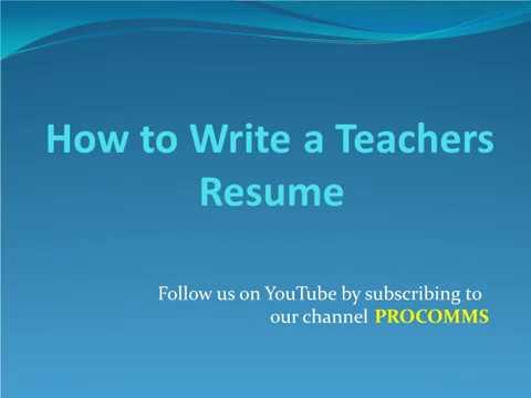 How To Write a teacher Resume | Teachers Resume | Tips for Teachers Resume | Best Teacher Resume