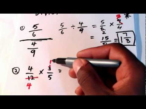 CXC Math Help, CXC Math Tutor. How To Multiply And Divide Fractions. CSEC CXC Maths
