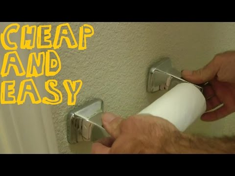 How To Fix A Loose Toilet Paper Holder Or Towel Rack