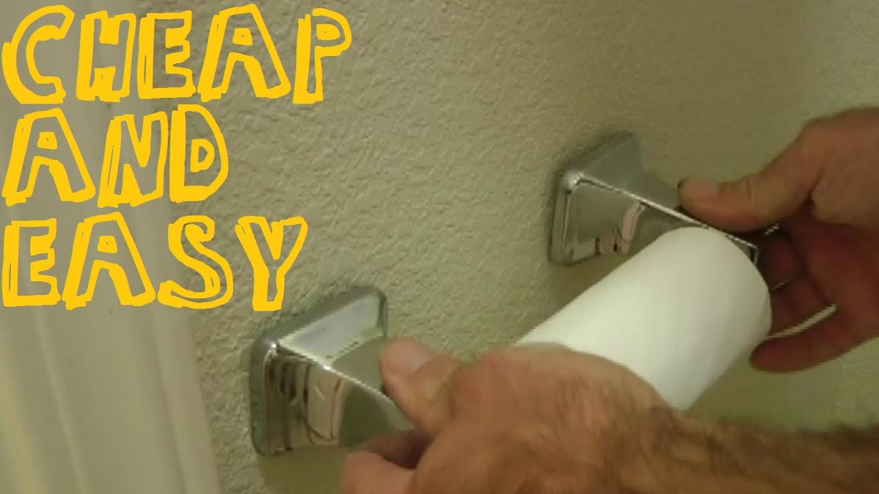 How To Fix A Loose Toilet Paper Holder Or Towel Rack Youtube