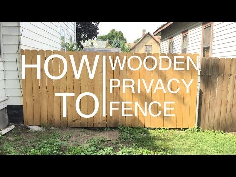 Wooden Privacy Fence // How To Build