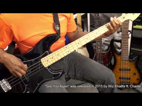 SEE YOU AGAIN Wiz Khalifa Charlie Puth Bass Guitar Cover EricBlackmonMusicHD