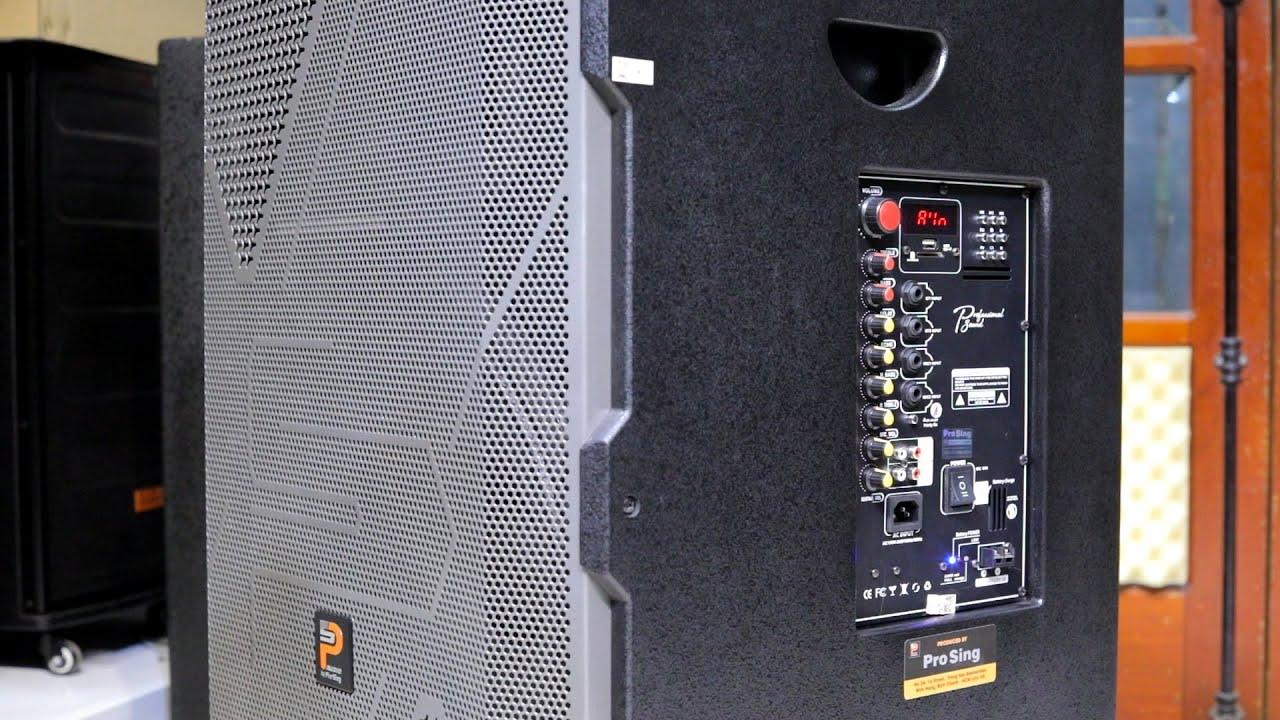 Loa kéo Prosing W2US công suất lớn bass 5 tấc đánh như bom