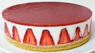 Cheesecake fara coacere | Cheesecake cu capsuni (CC Eng Sub) | JamilaCuisine