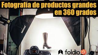 🥾📸 Fotografia de productos 360 grados con Foldio360 Extention Kit de Orangemonkie | Julian Marinov
