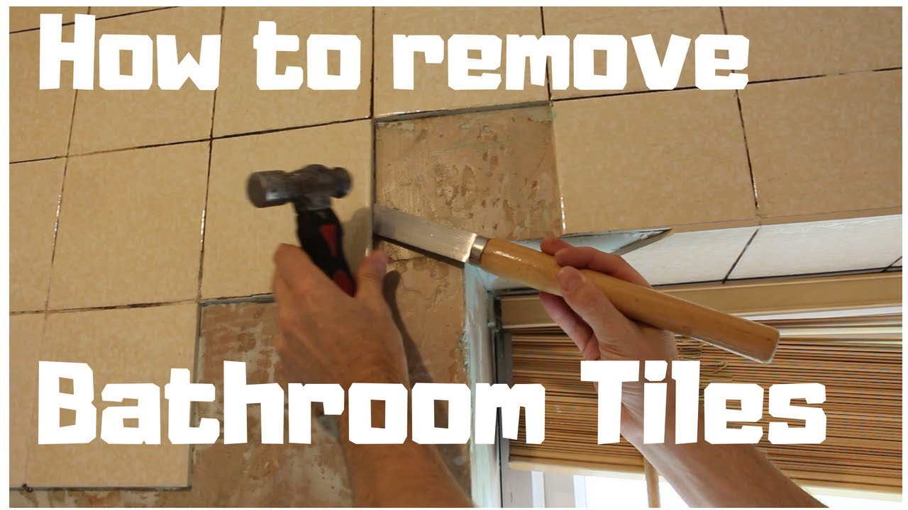 How to Remove Tiles from Bathroom Wall | DIY Part 1 - YouTube
