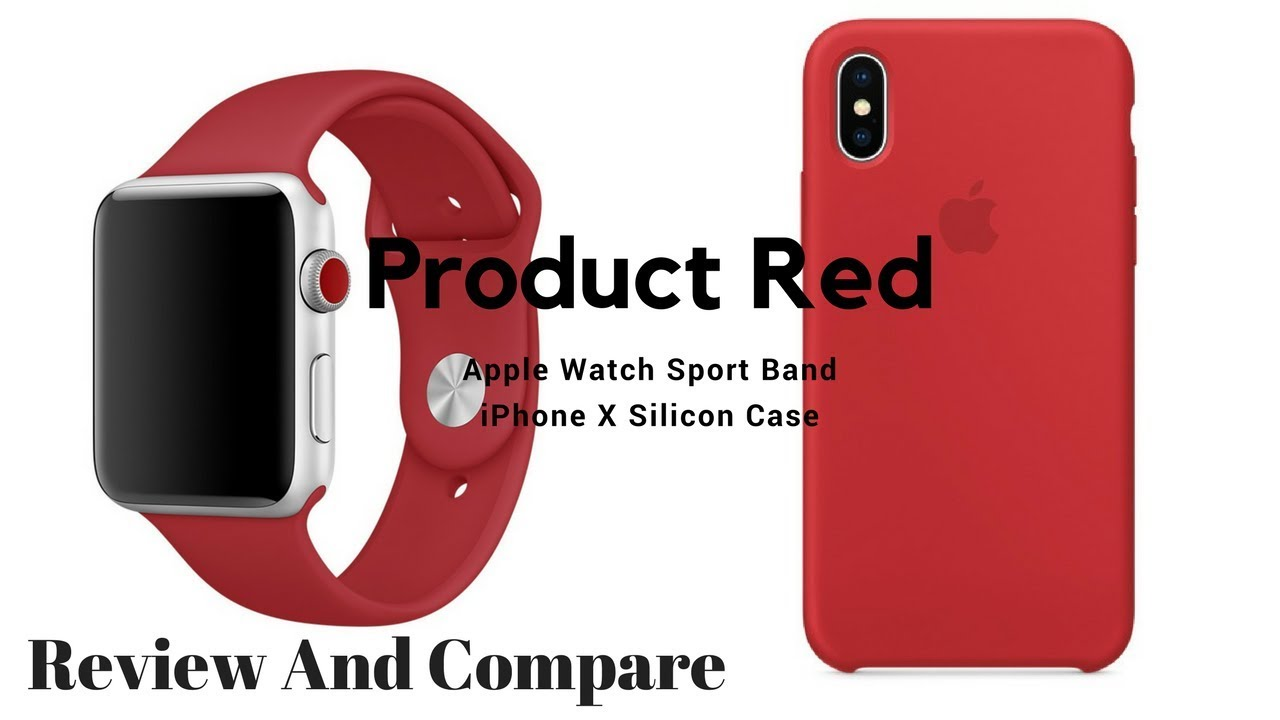 online store 1d8cf 4b9af Apple Watch Sport Band and iPhone X Product Red Case.