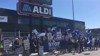 Protest at Aldi Store in Perth
