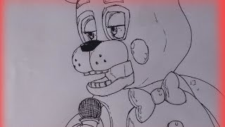 Speed Drawing ( FNAF) | Toy Freddy. (Sem colorir/No Color)