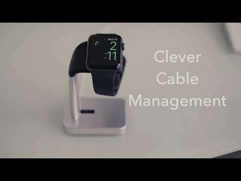 Macally Aluminum or Black Desktop Charging Stand for Apple Watch MWATCHSTAND MWATCHSTANDB