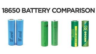 Mod 18650 Battery Comparison - Samsung 25R Vs. Sony VTC 4 Vs. Docan