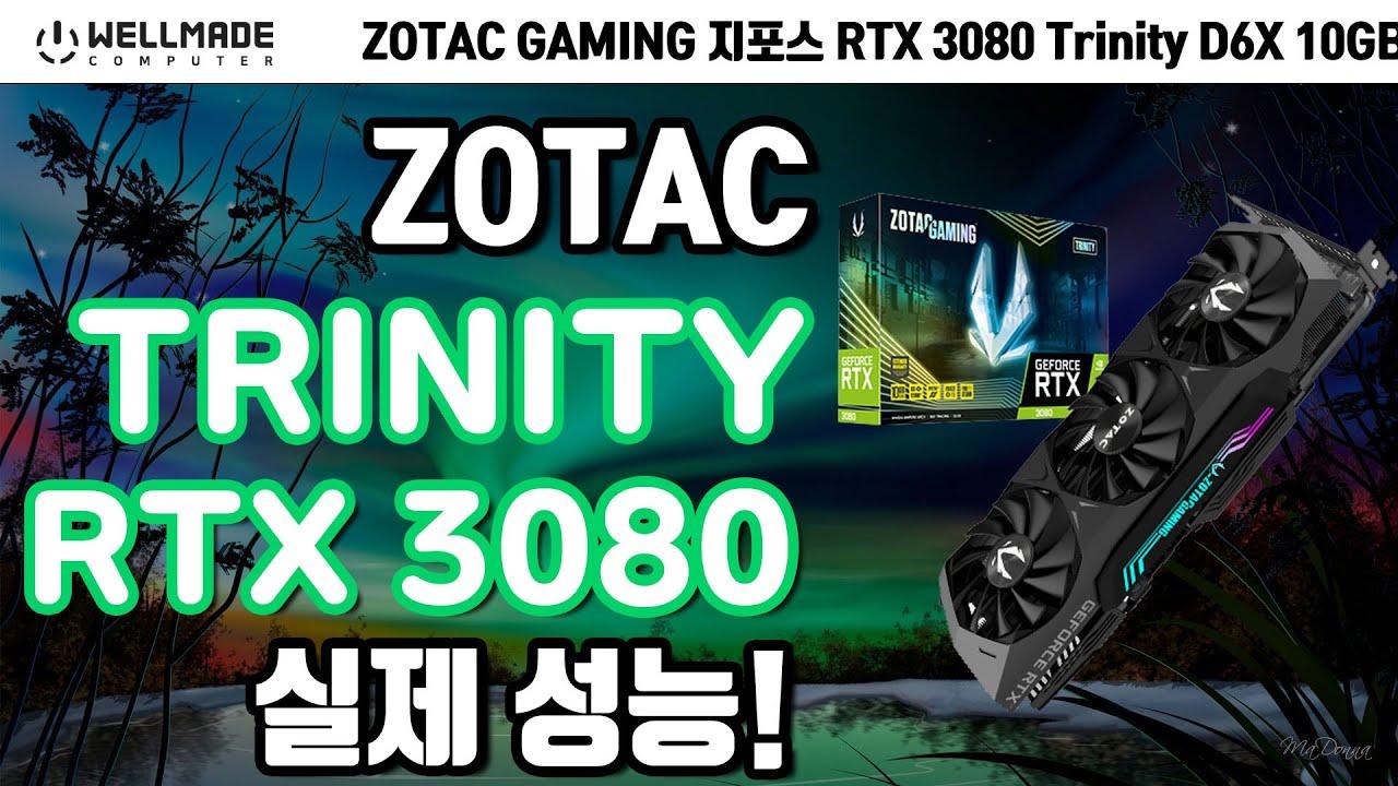 간지나는 RGB 나는 니가 조텍! RTX 3080 Trinity 리뷰! (ZOTAC GAMING 지포스 RTX 3080 Trinity D6X 10GB)