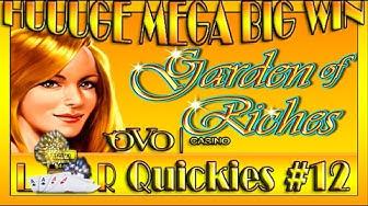 HUUUGE MEGA BIG WIN| LR Quickies #12- Ovo Casino- GARDEN OF RICHES auf 5€