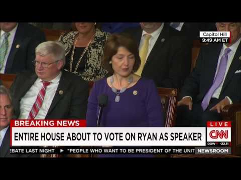 Cathy McMorris Rodgers Nominates Paul Ryan for Speaker of the House