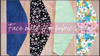 2in1 DIY Face Mask From Fabric Scraps Face Mask Sewing Tutorial