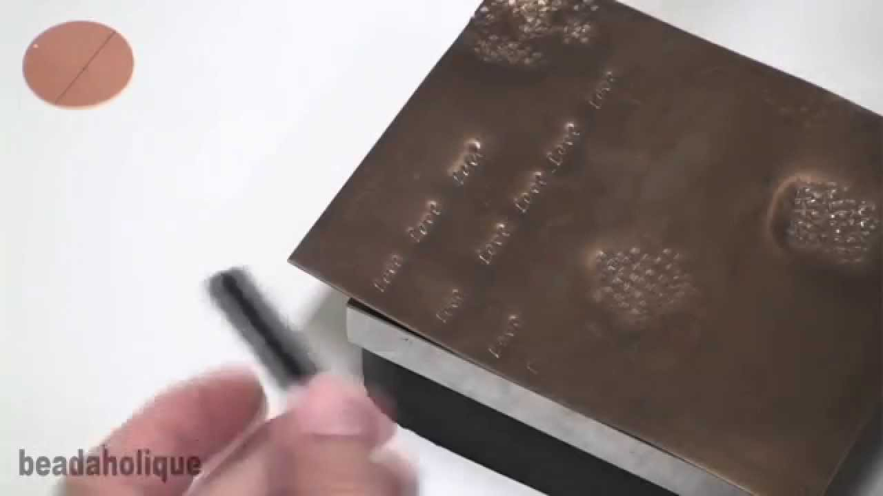 how to use alphabet punch sets for stamping youtube