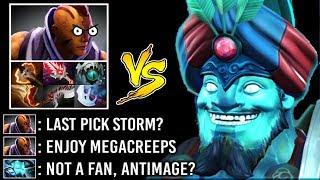 EPIC SH*T Mega-Creeps Storm Spirit vs Anti-Mage Mid Full Items Crazy Battle Gameplay 7.22 Dota 2