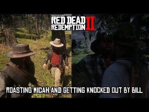 Red Dead Redemption 2 - Roasting Micah and Getting Punched By Bill