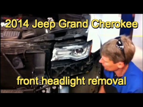 2014 Jeep Grand Cherokee headlamp assembly replacement - YouTube