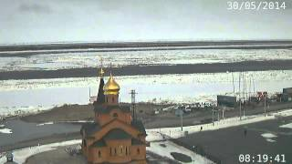 Ледоход на Енисее в Дудинке/Ice drift on the Yenisei river at Dudinka, 2014