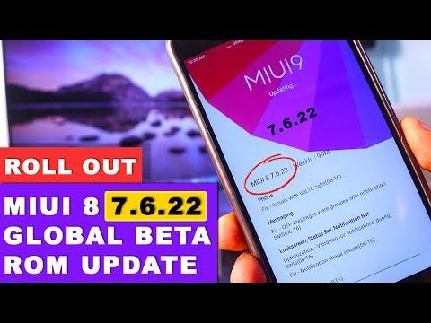 MIUI 8 7.6.22 Weekly Global Beta Rom Update Full Changelog
