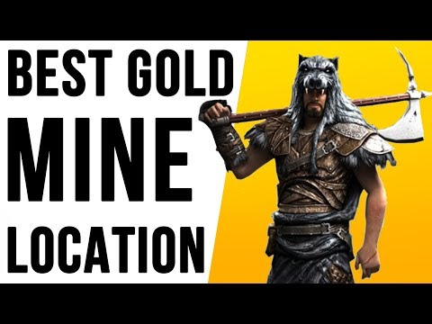 Skyrim Best Gold Mine Location Walkthrough + Secret Chest!