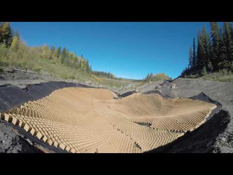Time Lapse of Alberta Infrastructure Project Near Grande Cache