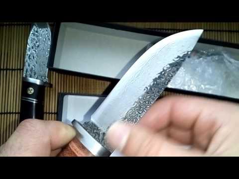 ножи дамасская сталь, нож из дамасской стали, купить нож