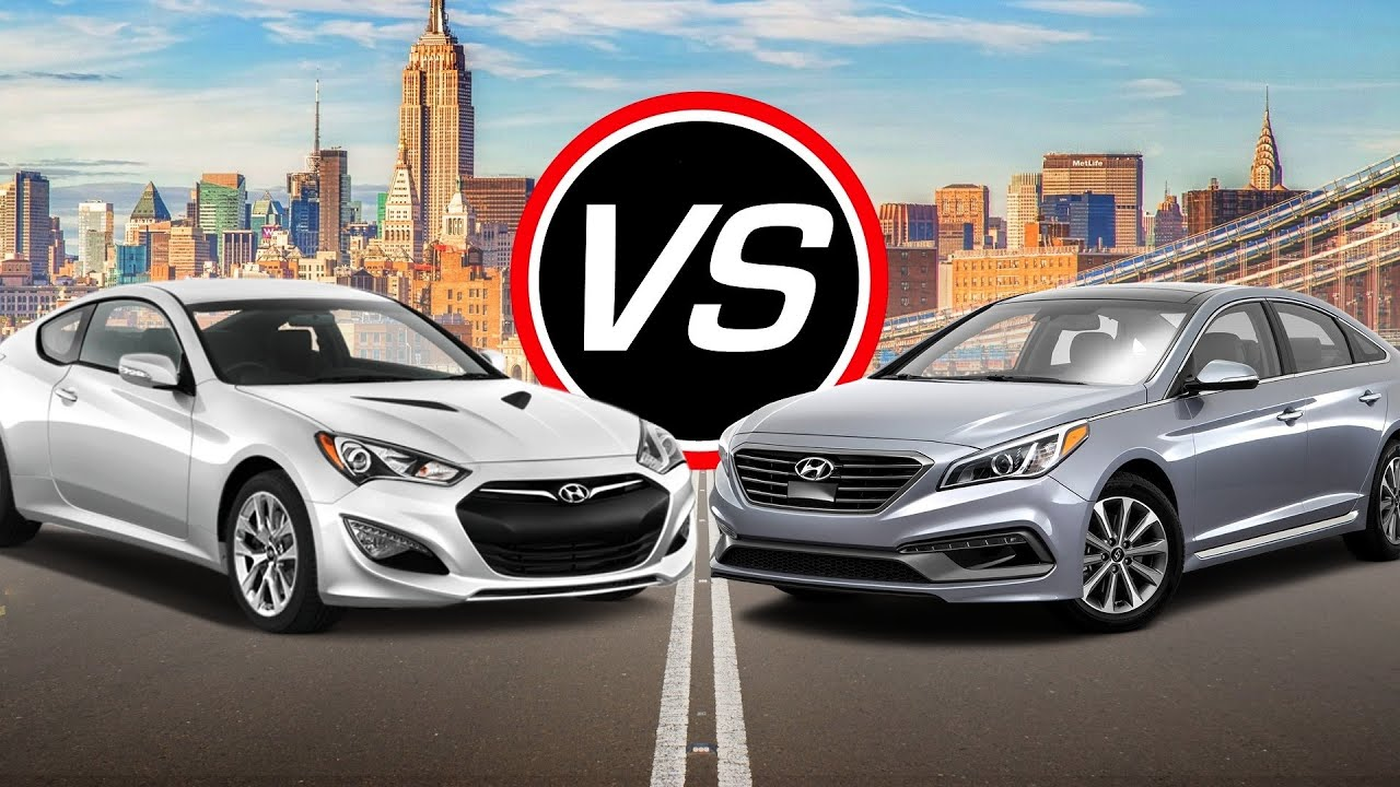 2016 hyundai genesis coupe vs sonata eco turbo spec. Black Bedroom Furniture Sets. Home Design Ideas