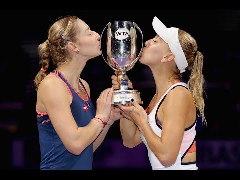 Mattek-Sands & Safarova vs Makarova & Vesnina Doubles Highlights | 2016 WTA Finals Final