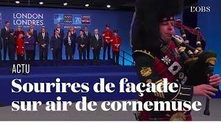 """La """"photo de famille"""" des dirigeants des pays de l'Otan sur un air de cornemuse"""