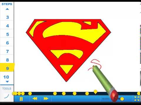 How To Draw Superman Symbol Drawing Tutorial Video Youtube
