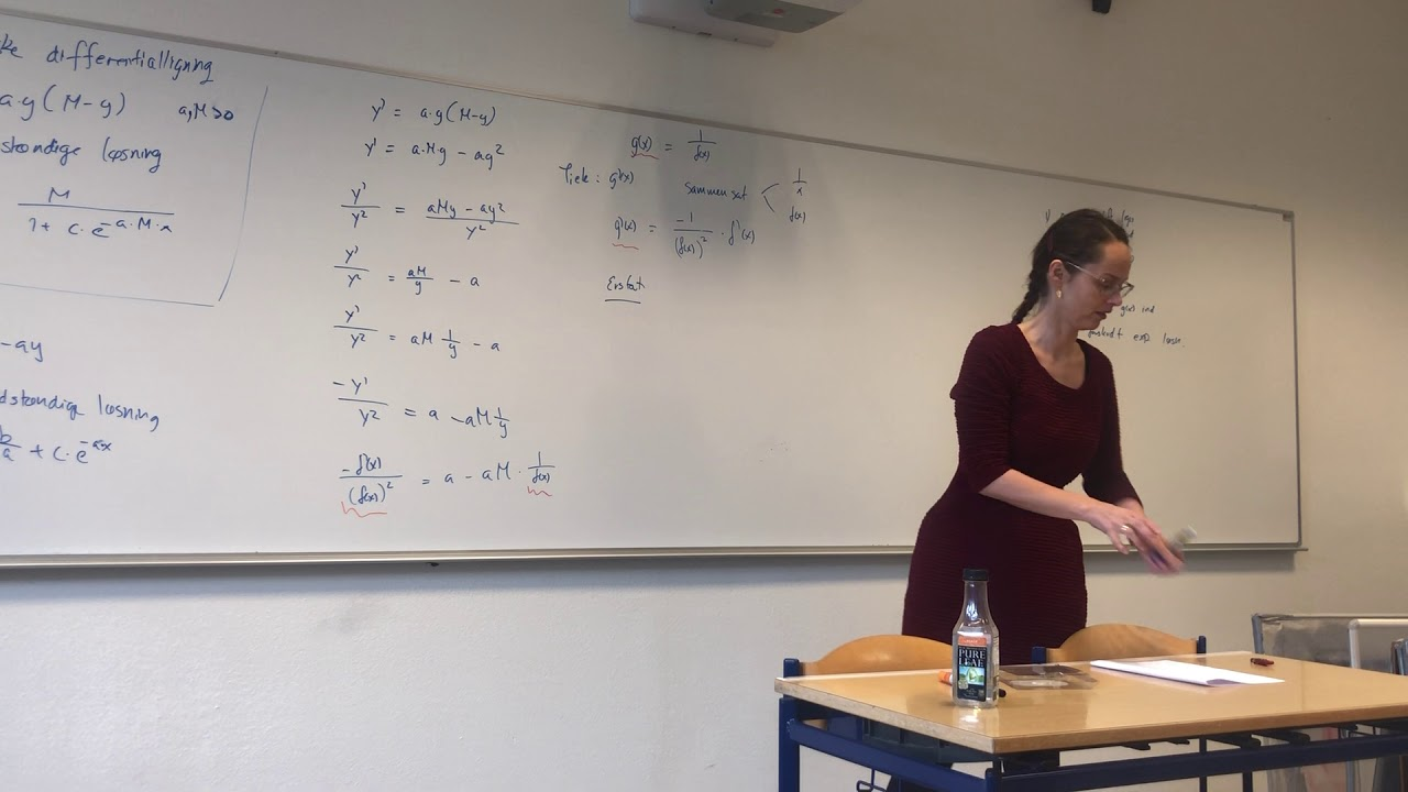 Bevis for løsningen til den logistiske differentialligning